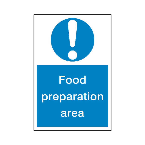 Food Preparation Sticker | Safety-Label.co.uk