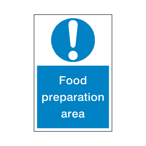 Food Preparation Sticker - Safety-Label.co.uk