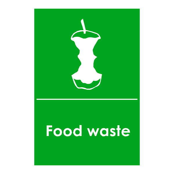 Food Logo Waste Recycling Sticker - Safety-Label.co.uk
