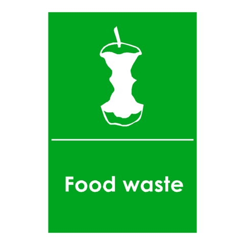 Food Logo Waste Recycling Signs | PVC Safety Signs | Health and Safety Signs