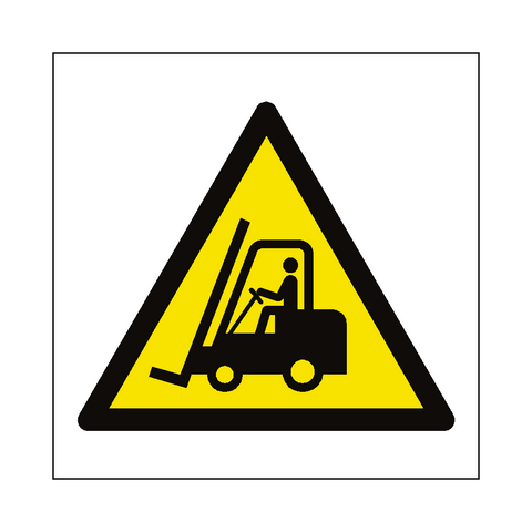 Fork Lift Truck Hazard Symbol Label - Safety-Label.co.uk
