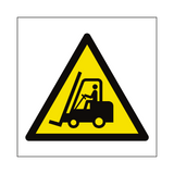 Fork Lift Truck Hazard Symbol Sign | Safety-Label.co.uk