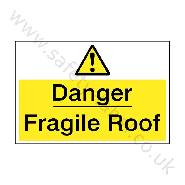 Fragile Roof Safety Sign - Safety-Label.co.uk