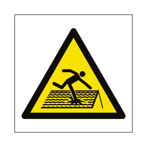 Fragile Roof Hazard Symbol Label - Safety-Label.co.uk