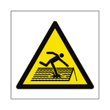Fragile Roof Hazard Symbol Sign | Safety-Label.co.uk