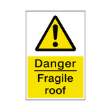 Fragile Roof Sign | Safety-Label.co.uk