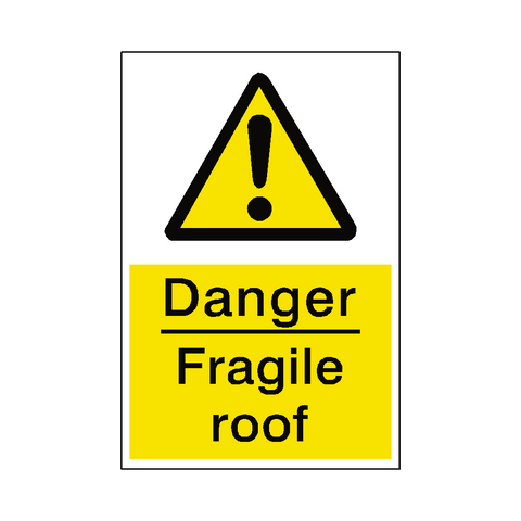 Fragile Roof Sign - Safety-Label.co.uk