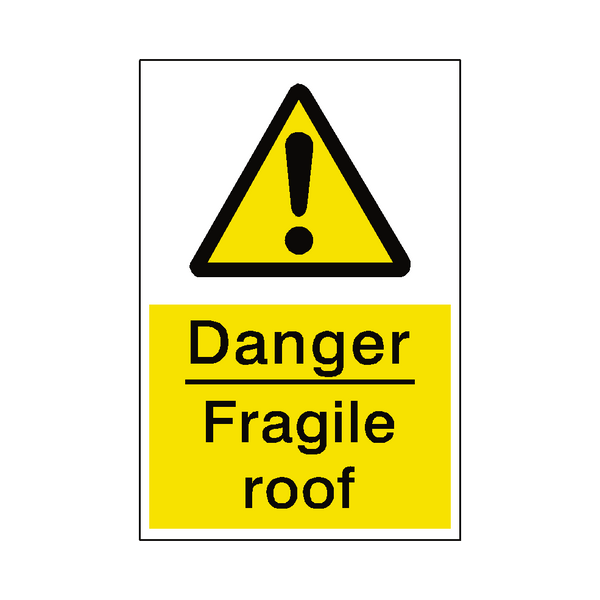 Fragile Roof Sticker - Safety-Label.co.uk