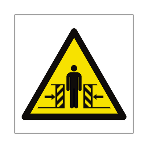 Full Crushing Hazard Symbol Label - Safety-Label.co.uk