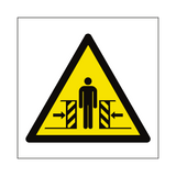 Full Crushing Hazard Symbol Sign | Safety-Label.co.uk