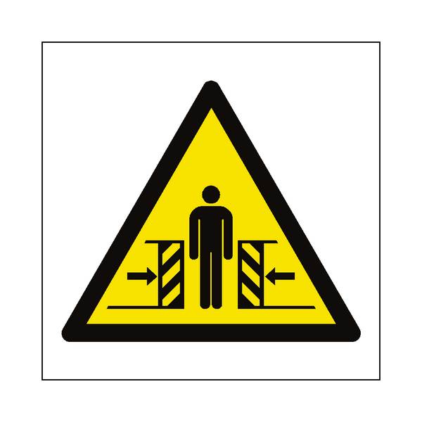 Full Crushing Hazard Symbol Sign - Safety-Label.co.uk