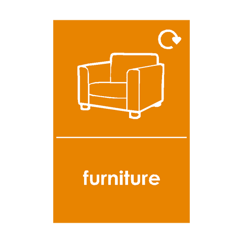 Furniture Waste Sticker - Safety-Label.co.uk
