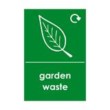Garden Waste Logo Waste Recycling Sticker | Safety-Label.co.uk
