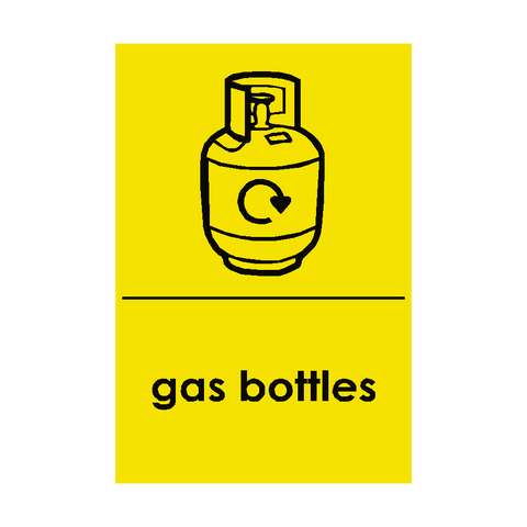 Gas Bottle Waste Recycling Sign | PVC Safety Signs | Health and Safety Signs