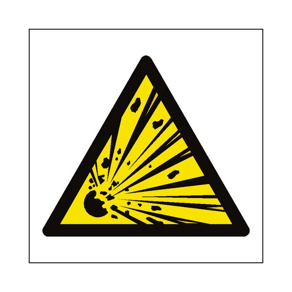 General Explosive Material Hazard Symbol Label | Safety-Label.co.uk