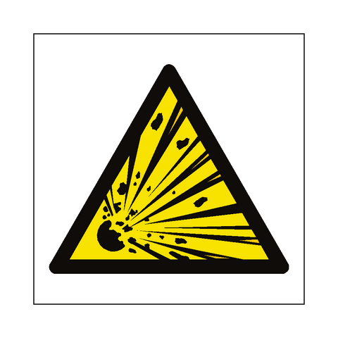 General Explosive Material Hazard Symbol Label - Safety-Label.co.uk
