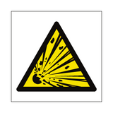 General Explosive Material Hazard Symbol Sign | Safety-Label.co.uk