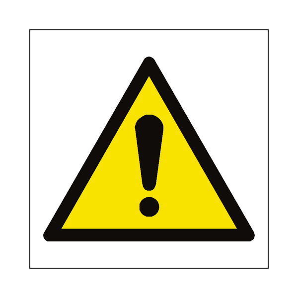 General Hazard Symbol Label | Safety-Label.co.uk
