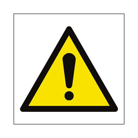 General Hazard Symbol Label - Safety-Label.co.uk