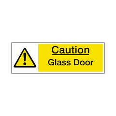 Glass Door Warning Sign - Safety-Label.co.uk