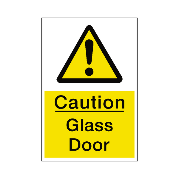 Glass Door Hazard Sign | Safety-Label.co.uk