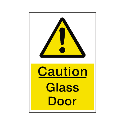 Glass Door Hazard Sign - Safety-Label.co.uk
