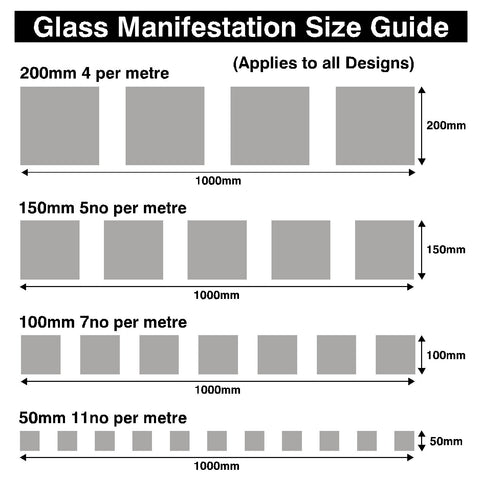 Frosted window film squares safety safety for Transom window sizes