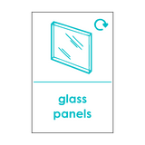 Flat Glass Waste Sticker | Safety-Label.co.uk