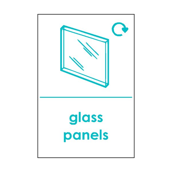 Flat Glass Waste Sticker - Safety-Label.co.uk