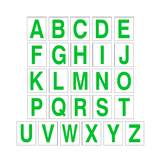Alphabet Letter Sticker Pack Green | Safety-Label.co.uk