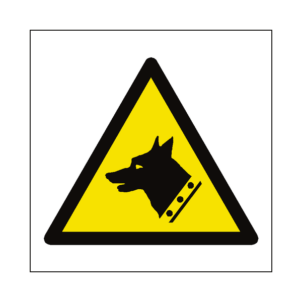Guard Dogs Hazard Symbol Label | Safety-Label.co.uk