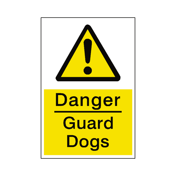 Danger Guard Dogs Sticker - Safety-Label.co.uk