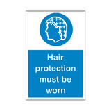 Hair Protection Sticker | Safety-Label.co.uk