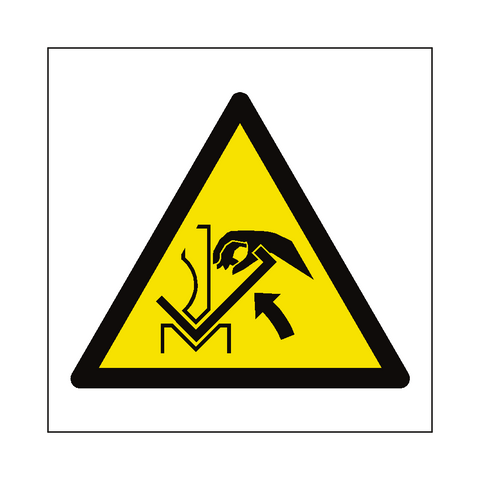 Hand Crush in Press Brake Hazard Symbol Label - Safety-Label.co.uk