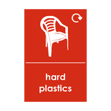 Hard Plastics Waste Recycling Sticker | Safety-Label.co.uk