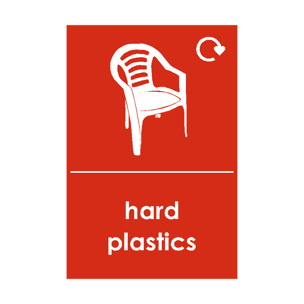 Hard Plastics Waste Recycling Sticker - Safety-Label.co.uk