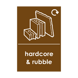 Hardcore and Rubble Waste Sticker | Safety-Label.co.uk