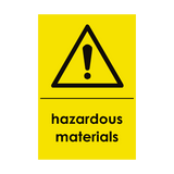 Hazardous Materials Waste Recycling Sticker | Safety-Label.co.uk