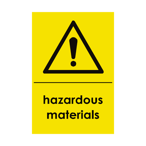 Hazardous Materials Waste Recycling Sticker - Safety-Label.co.uk