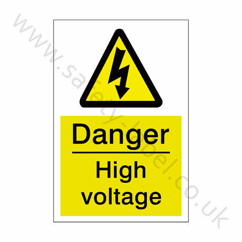 High Voltage Electrical Safety Sign - Safety-Label.co.uk