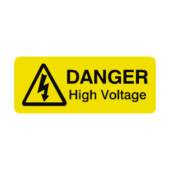 High Voltage Labels Mini - Safety-Label.co.uk