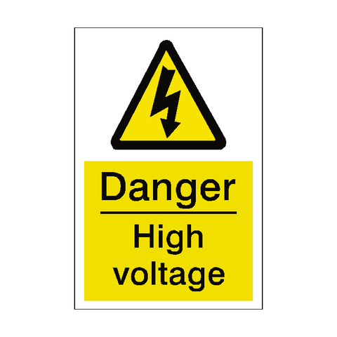 High Voltage Sticker - Safety-Label.co.uk