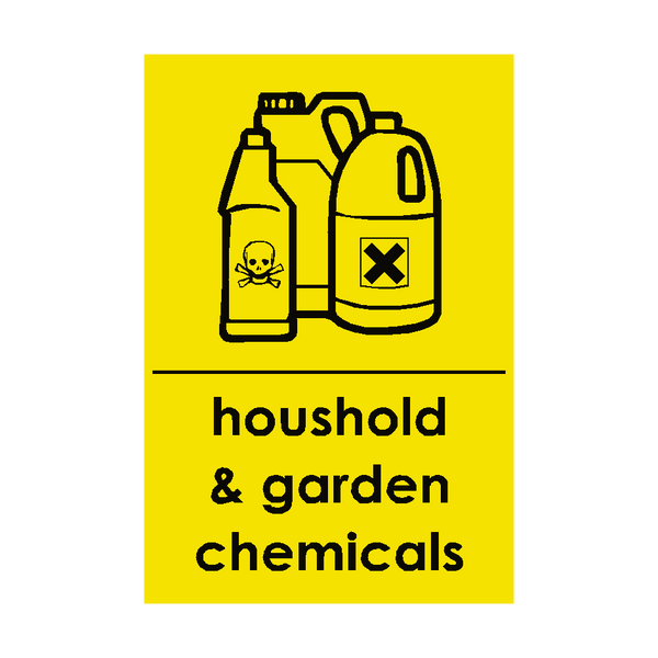 Household and Garden Chemicals Recycling Signs | Safety-Label.co.uk