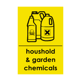 Household and Garden Chemicals Recycling Sticker | Safety-Label.co.uk