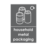 Household Metal Packaging Waste Recycling Sticker | Safety-Label.co.uk