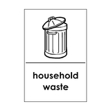 Household Waste Recycling Sticker | Safety-Label.co.uk