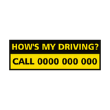 How's My Driving Vehicle Sticker | Safety-Label.co.uk