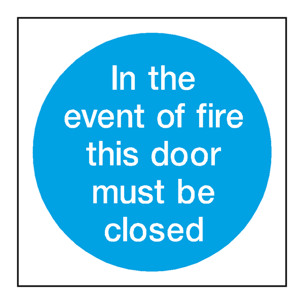 Event Of Fire Door Sticker - Safety-Label.co.uk