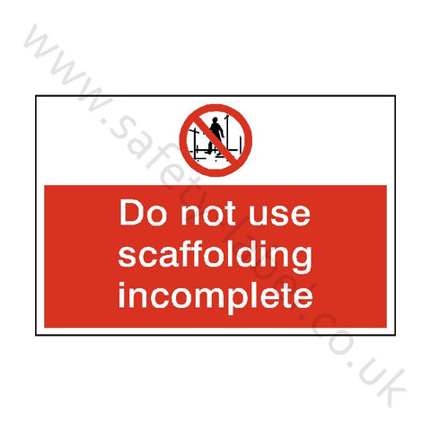 Do Not Use Scaffolding Safety Sign - Safety-Label.co.uk