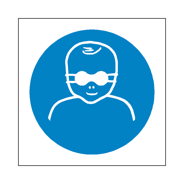 Infant Eye Protection Symbol Sign | Safety-Label.co.uk